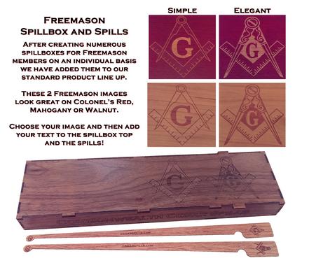Freemason specialty spillbox and spills.