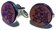 Official cufflink of Jim Robinson, otherwise known as Island Jim of the Leaf and Bean in the Strip in Pittsburgh, PA.  A portion of every set of these cufflinks sold goes directly to Cigars for Warriors to help them cover the postage cost they incur sending cigar care packages to our troops worldwide.