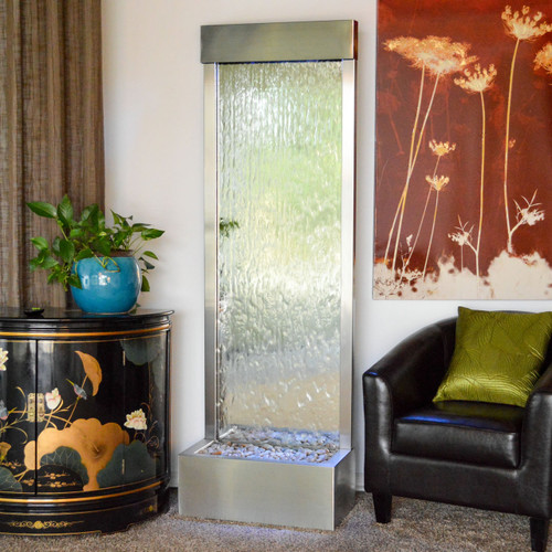 Bluworld Gardenfall Stainless steel fountain with mirror