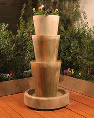 Gist Decor Tri Level Jug with Planter Outdoor Stone Fountain