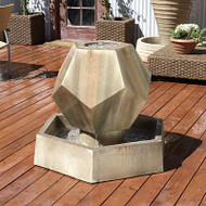 Gist Twelve Sided Outdoor Stone Fountain