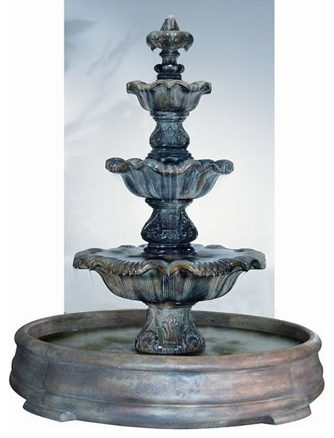 Three Tier Renaissance in Grando Pool - Shown in Relic Nebia Finish