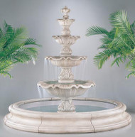 Henri Studio Four Tier Renaissance in Tuscano Pool Outdoor Stone Fountain