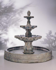 Henri Studio Classic Finial in Valencia Pool Outdoor Stone Fountain