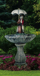 Henri Studio Classic Golfer Outdoor Stone Fountain