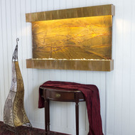 Copper Patina Trim with Brown Rainforest Marble