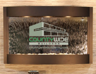 Woodland Brown Frame with Silver Mirror and Business Logo