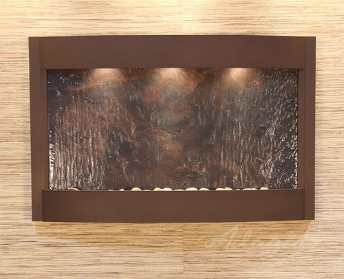 Calming Waters Wall Fountain with Copper Vein Frame and Multicolor Featherstone Water Panel