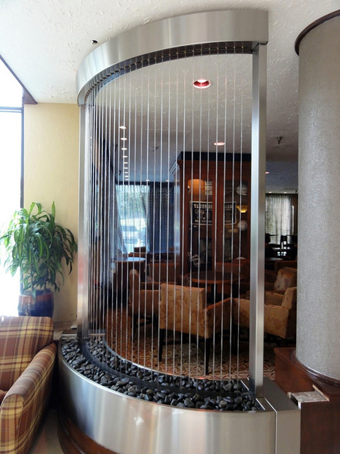 Custom Curved Rain Curtain with Stainless Steel Frame