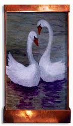 Swan Lake art fountain