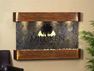 Sunrise Springs Wall Fountain with Slate and Logo