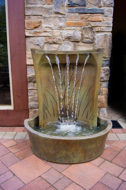 Aria Fountain in Relic Nebbia finish