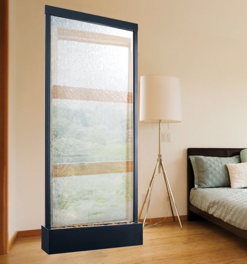 Bluworld Grande Waterwall Black with clear glass