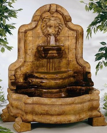 Henri Studio Lion Face Terrazzo Bella Wall Water Fountain
