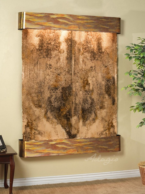Majestic River - Magnifico Travertine - Rustic Copper - Rounded