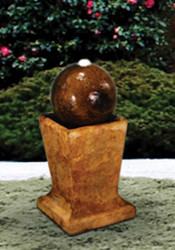 Lighted Sphere on Low Pedestal
