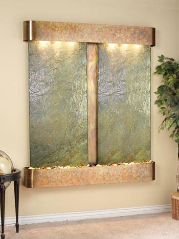 Rustic Copper Trim with Green Slate