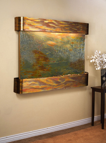 Rustic Copper Trim with Featherstone Slate