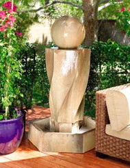 Gist Decor Vortex With Ball Outdoor Stone Fountain