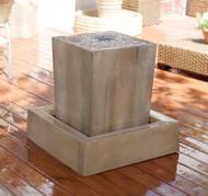 Gist Decor Obtuse Outdoor Stone Fountain Obtuse shown in Sierra finish
