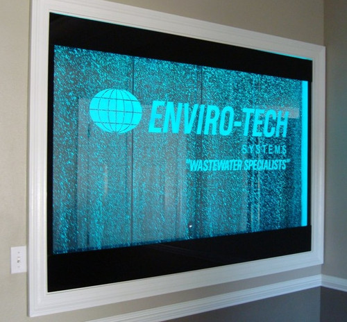 Water Gallery Enviro-Tech Bubble Wall with Etched Logo