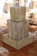 Gist Decor Double Obtuse Outdoor Stone Fountain Shown in Sierra finish.