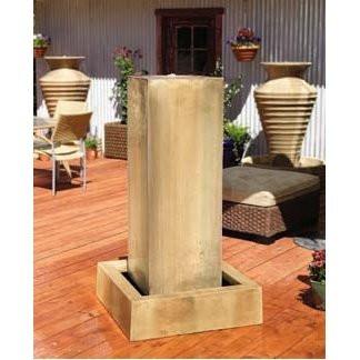 Gist Decor Monolith Outdoor Stone Fountain shown in Sierra finish