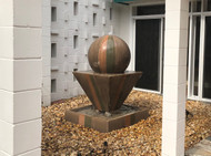 Gist Decor Large Oblique with Ball Fountain shown in Sierra finish