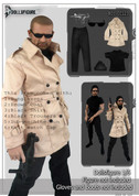 DollsFigure - Spy OUtfit - Brown Long Jacket