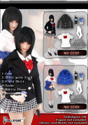 DollsFigure - School Girl - Blue Jacket Set