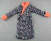 Super Duck - House Coat - Patterned - Orange Collar