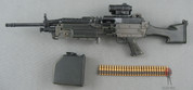 Hot Toys - Battle-Kata - FN M249-E2 SAW - Aimpoint CompM4 - Ammo Can & Belt