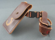 "COO Model - Belt - Brown Leather - ""3"" Pouch - Holster"