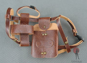 COO Model - Shoulder Holster - Brown Leather - Dual Blade Sheath