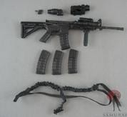 Very Hot - M4 Carbine CQB Style - Grip - Flashlight - X4 EMAG -  Red Dot Sight - X3 Flip Up Sight - Flip Up Iron sight - OneBlack