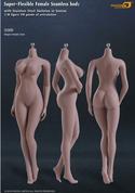 Phicen - Female Body - Seamless Stainless Steel Skeleton in Suntan/Large Breast (S06B)