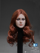 DS Toys - Female Head with Long Curly Red Hair