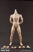 COO Model - Hybrid Rubber Muscular Male Body CM-B34006