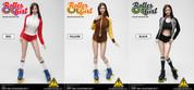 Flirty Girl - Roller Girl Female Character Set