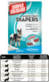 Medium Fashion Disposable Diapers (12 pack) by Simple Solutions