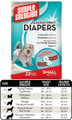 Small Designer Fashion Disposable Diaper (12 pack) by Simple Solutions