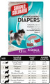 Extra Small Designer Fashion Disposable Diapers (12 pack) by Simple Solutions