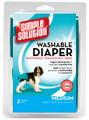 Medium Washable Diaper by Simple Solutions