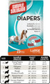Large Disposable Diapers (12 Pack) by Simple Solutions