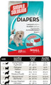 Small Disposable Diaper (12 Pack) by Simple Solutions