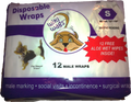 Wiki Wags disposable male wraps are great for potty training male puppies when used with The Housebreaker Kit! They can also be used for male marking, incontinence, social visits, and surgical wrap.