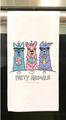 "Party Animals~Tea Towel, 19""x28"", 100% Cotton"