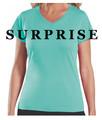 L.A.T. Ladies V-Neck T-Shirts (quantity 4)