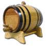 10 Liter Barrel w/ Black Hoops