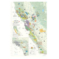 California Wine Map poster